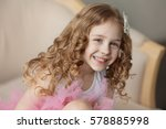 portrait of cute little girl...   Shutterstock . vector #578885998
