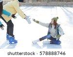Skating With Friends. Beautifu...