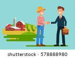 the meeting  businessmen... | Shutterstock .eps vector #578888980