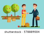the meeting  businessmen... | Shutterstock .eps vector #578889004