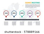 business minimal infographic... | Shutterstock .eps vector #578889166