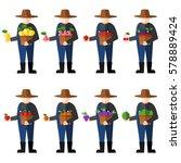 fruit farmers vector | Shutterstock .eps vector #578889424