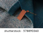 rectangular tag on a winter... | Shutterstock . vector #578890360
