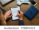 financial printed paper charts  ... | Shutterstock . vector #578891413