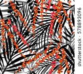 tropical seamless pattern.... | Shutterstock . vector #578893096
