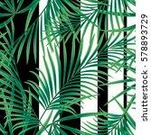 seamless tropical pattern ... | Shutterstock . vector #578893729