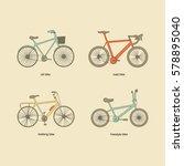 citi bike  road bike  trekking... | Shutterstock .eps vector #578895040