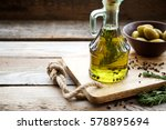 flavored olive oil with... | Shutterstock . vector #578895694