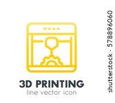 3d printer  printing icon in...