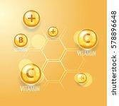 vitamins. medicine or science... | Shutterstock .eps vector #578896648