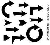 arrow set solid   Shutterstock .eps vector #578904370