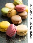 tasty sweet macarons. macaroons ... | Shutterstock . vector #578906770