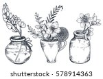 set of floral compositions.... | Shutterstock .eps vector #578914363