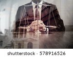 justice and law concept.male... | Shutterstock . vector #578916526