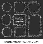 hand drawn doodle scribble... | Shutterstock .eps vector #578917924