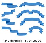 collection of ribbons   with... | Shutterstock .eps vector #578918308