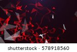 abstract triangles background.  | Shutterstock . vector #578918560