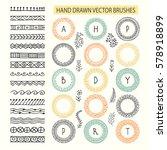 vector decorative scribble... | Shutterstock .eps vector #578918899