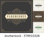 royal logo design template... | Shutterstock .eps vector #578922328