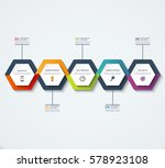 infographic template of... | Shutterstock .eps vector #578923108