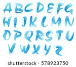 watercolor picturesque alphabet.... | Shutterstock . vector #578923750
