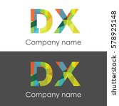 dx letter abstract mosaic shape ... | Shutterstock .eps vector #578925148