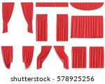 luxury red silk velvet curtains ...   Shutterstock . vector #578925256