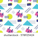 90's style seamless pattern | Shutterstock .eps vector #578925424