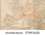 Old Map Of Europe. Names In...