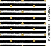 gold glitter polka dot on lines ...   Shutterstock .eps vector #578928274