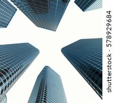 business skyscrapers  high rise ... | Shutterstock . vector #578929684