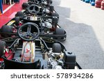 go kart car parked next to... | Shutterstock . vector #578934286