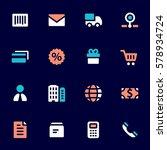 shopping mobile icons  e... | Shutterstock .eps vector #578934724