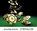 luxury casino chip gold and... | Shutterstock . vector #578936158