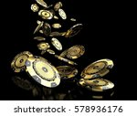 luxury casino chip gold and... | Shutterstock . vector #578936176