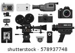 photo and video camera vector... | Shutterstock .eps vector #578937748
