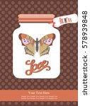love card design. vector... | Shutterstock .eps vector #578939848