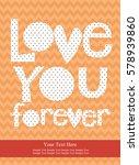 love card design. vector... | Shutterstock .eps vector #578939860