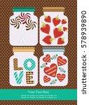 love card design. vector... | Shutterstock .eps vector #578939890
