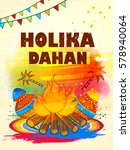 happy holi  vector illustration ... | Shutterstock .eps vector #578940064