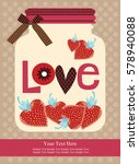 love card design. vector... | Shutterstock .eps vector #578940088