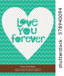 love card design. vector... | Shutterstock .eps vector #578940094