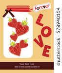 love card design. vector... | Shutterstock .eps vector #578940154