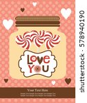love card design. vector... | Shutterstock .eps vector #578940190