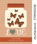 love card design. vector... | Shutterstock .eps vector #578940208