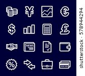 finance web icons set | Shutterstock .eps vector #578944294
