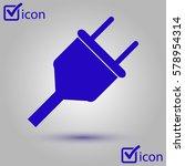 vector electrical plug symbol....