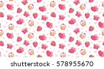 romantic seamless pattern with... | Shutterstock .eps vector #578955670