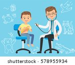 children's clinic.  | Shutterstock .eps vector #578955934
