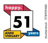 51 years anniversary...   Shutterstock .eps vector #578959480